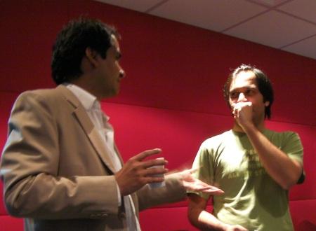 Sanjive (left) and Kedar (right)