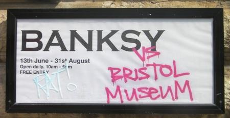 BanksyExhibitSign