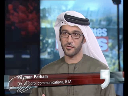 Peyman Parham discussing the first weekend of the Dubai Metro