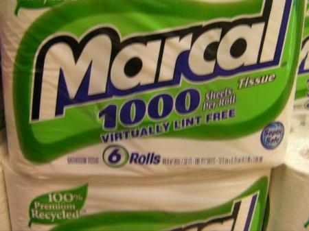 Virtually lint free toilet paper