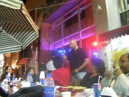 people having dinner at Al Baghdadi Restaurant, Al Muteena, Dubai