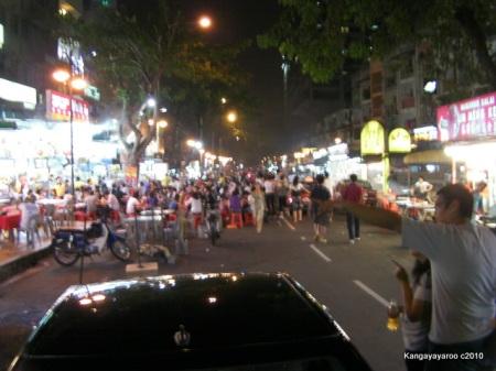 street food in Kuala Lumpur on Alor street