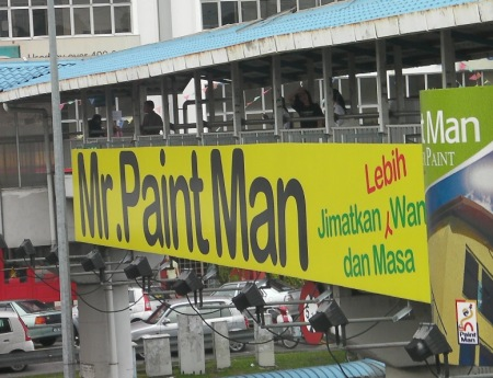 Mr. Paint Man sign