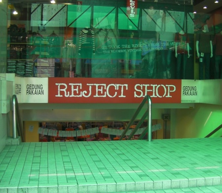 Reject Shop sign