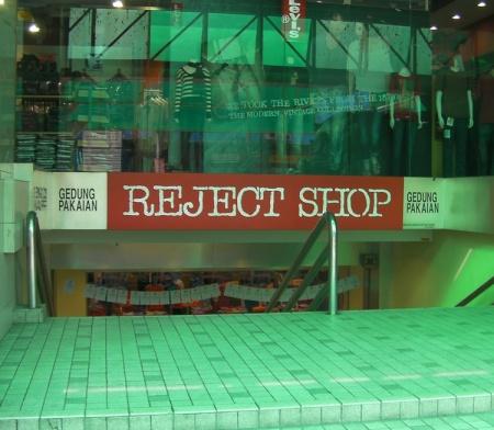 Reject Shop sign