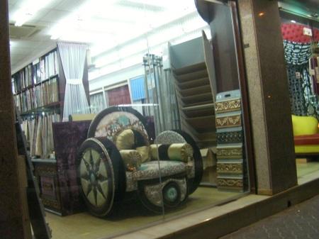 window display of Bride of Nomadism Furniture store