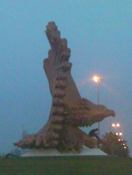 falcon sculpture
