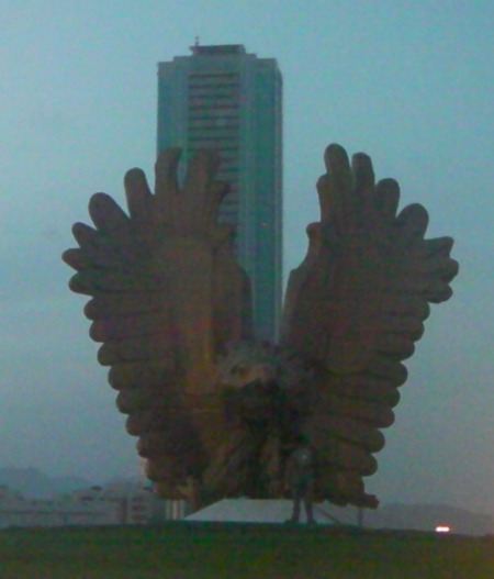 falcon sculpture