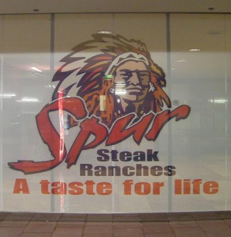 Spur Steak restaurant advertisement
