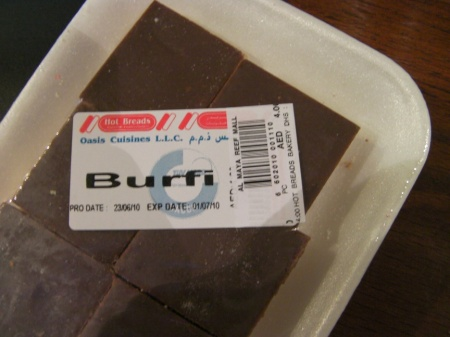 package of candy called Burfi