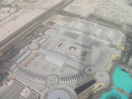 view of the roof of Dubai Mall