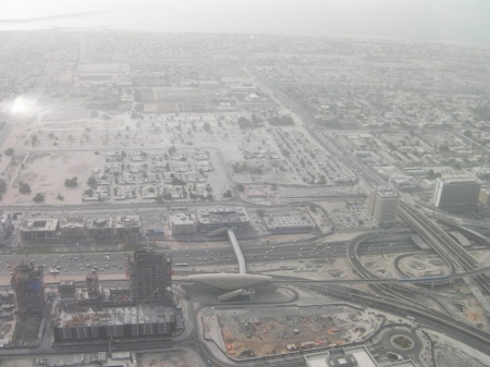 northwest view from the Burj Khalifa