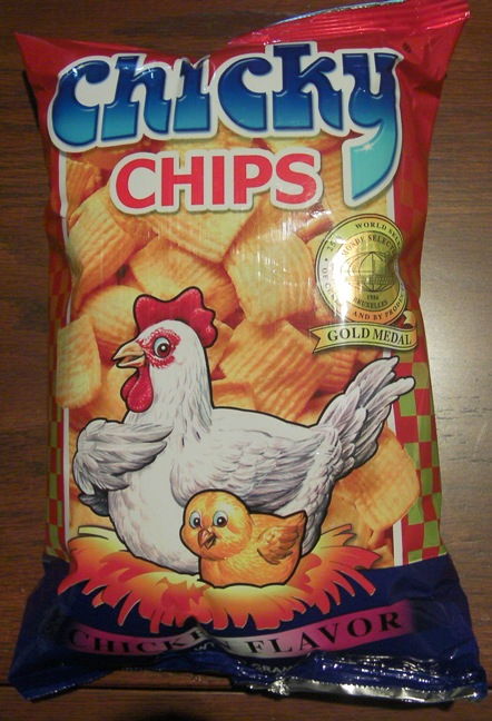 bag of snacks called Chicky Chips