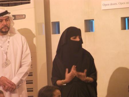 woman wearing a veil called a niqab
