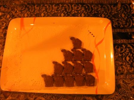 camel shaped chocolates