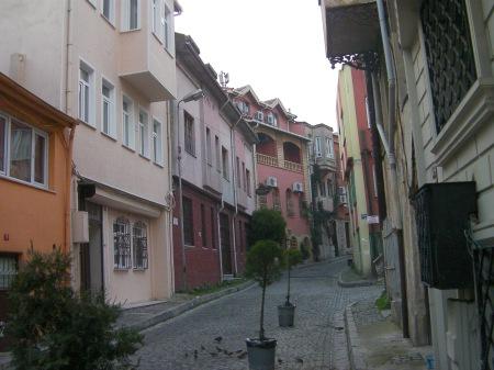 narrow cobblestone street