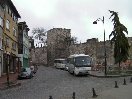 houses and ancient wall