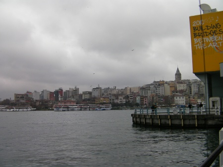 other side of the Galata Bridge