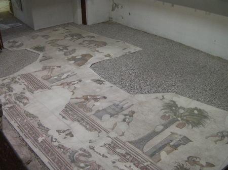 Byzantine mosaic flooring
