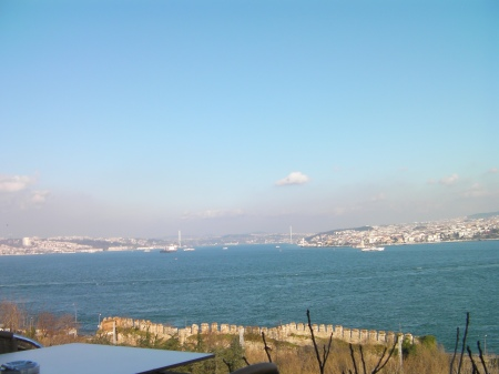 view of the Bosphorus Strait