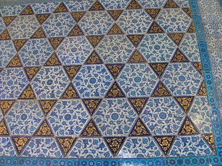 tiles in star pattern
