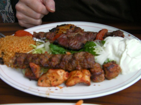 plate of mixed grilled meats