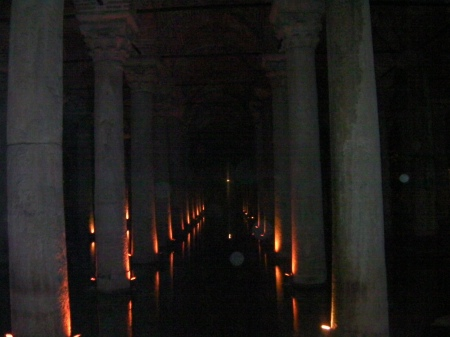 Basilica Cistern, Roman columns