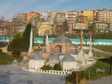miniature of the Hagia Sophia