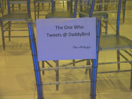 sign: the one who tweets @ Daddy Bird