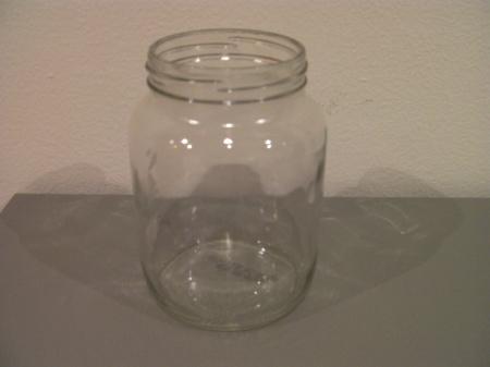 a glass jar