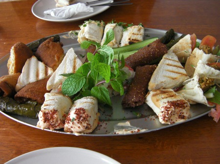 plate of various finger foods