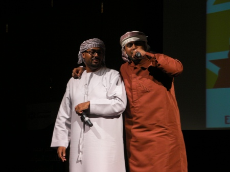 two Emirati brothers performing hip hop music