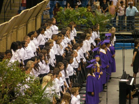 high school choir at graduation