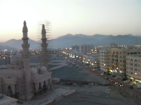 view of north part of Fujairah at dusk