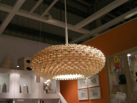 hanging lamp that looks like a sea urchin