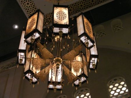 chandelier rectangular lamps, crescents and lacework