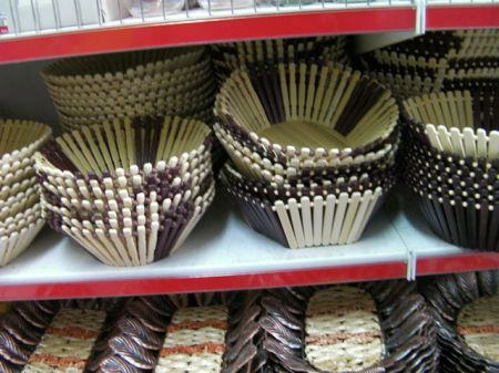 baskets that look like they are made of popsickle sticks