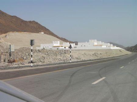 white houses on a plateau
