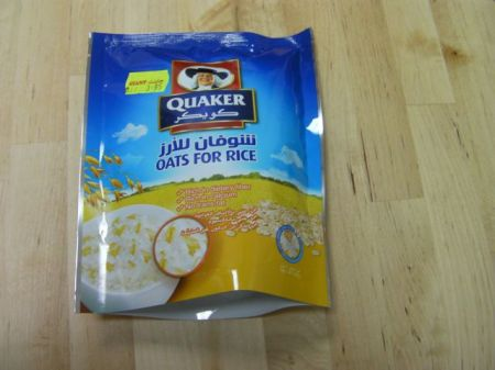 package of Quaker oats for rice