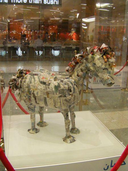 paper mache horse sculpture