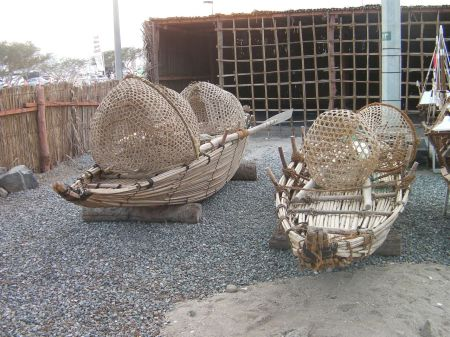boats made of palm leaves