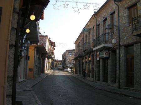 narrow street scene