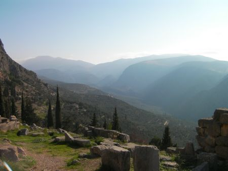 valley as seen from ancient Delphi