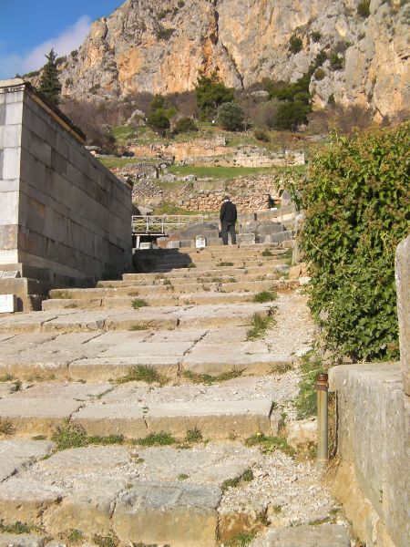 more stone stairs