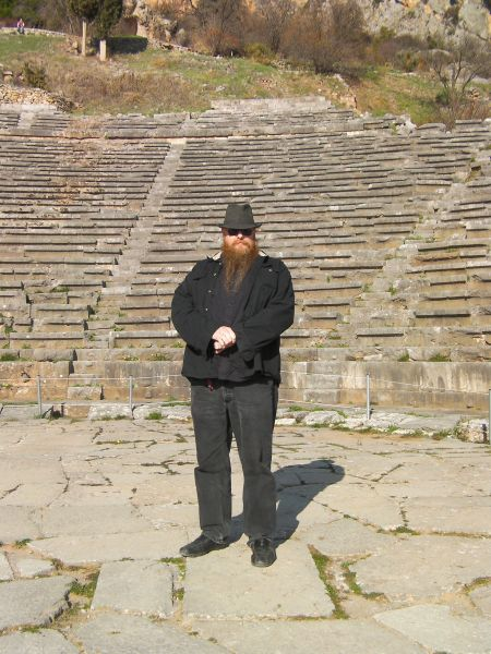 man standing on the theater's floor