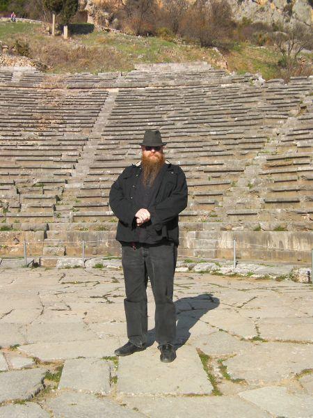 man standing on the theater's floor