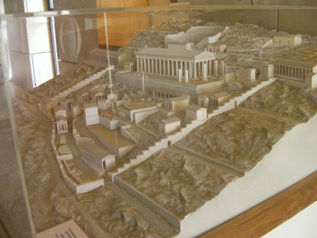model of the temple complex
