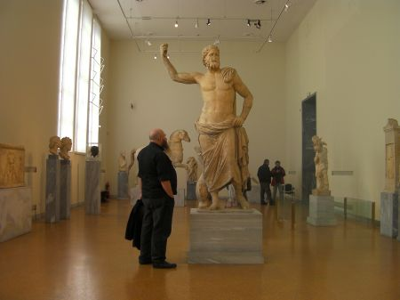large marble statue of the god of the sea