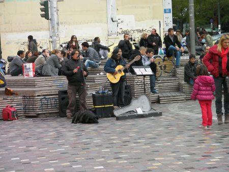 street musicians, latino