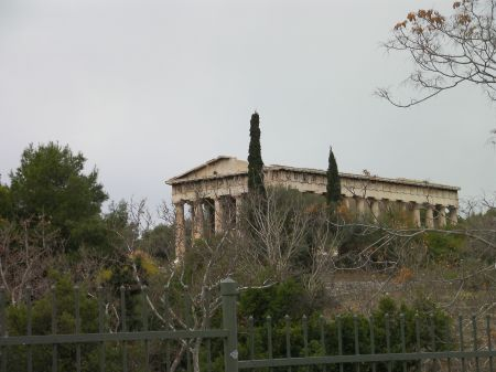 Greek temple on a hill